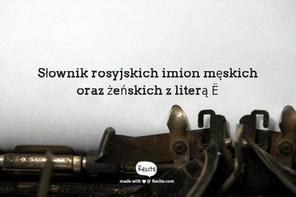 Słownik rosyjskich imion męskich oraz żeńskich