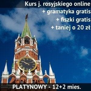 nauka rosyjskiego online Wersja Platynowa